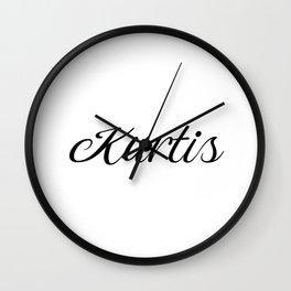 Name Kurtis Wall Clock