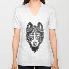 Dog black  Unisex V-Neck