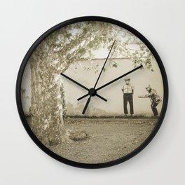 Petanque in Italy Pisa Tuscany Wall Clock