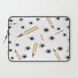 BULLETS N BULLET HOLES Laptop Sleeve
