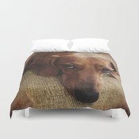 dachshund Duvet Covers featuring Dachshund by Tennessee Backroads