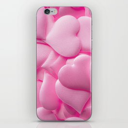 Pink hearts background iPhone Skin