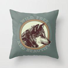 Wild, free & beautiful Throw Pillow