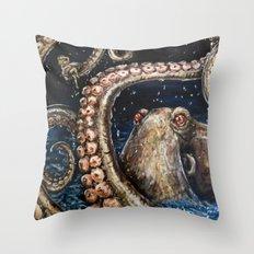Enter the Kraken Throw Pillow