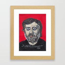 Slavoj Zizek Framed Art Print