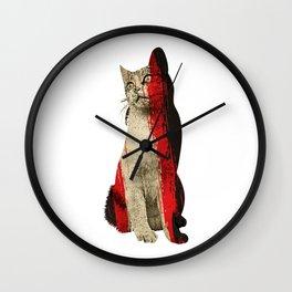Abstract Cat Wall Clock