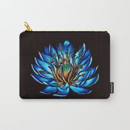 Multi Eyed Blue Water Lily Flower Carry-All Pouch