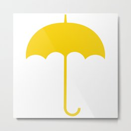 Yellow Umbrella Metal Print