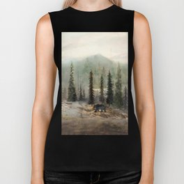 Mountain Black Bear Biker Tank