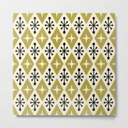 Mid Century Modern Atomic Triangle Pattern 109 Metal Print
