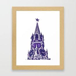 Kremlin Chimes-violet Framed Art Print
