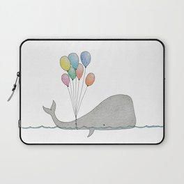 Whale whit balloons Laptop Sleeve