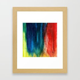 Spring Yeah! - Abstract paint 1 Framed Art Print