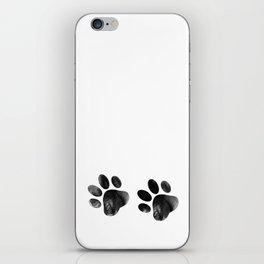 Cat's footprints iPhone Skin