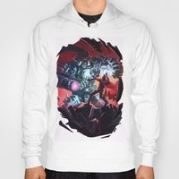 magneto Hoodies featuring Magneto vs Megatron by Larrydraws