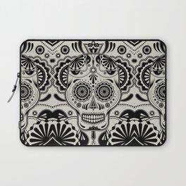 Sugar Skull Art B&W Laptop Sleeve