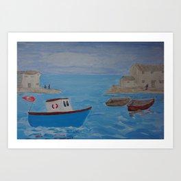 Boat Coming Home Art Print