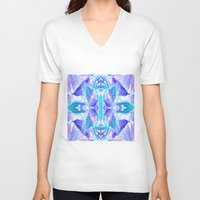 crystal V-neck T-shirts featuring Crystal by Cs025