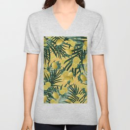 Summer Lemon Twist Jungle #3 #tropical #decor #art #society6 Unisex V-Neck