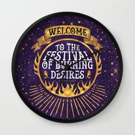 Daughter of the Burning City - Amanda Foody - Purple Wall Clock