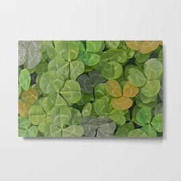 Multicoloured leaves with patterns Metal Print