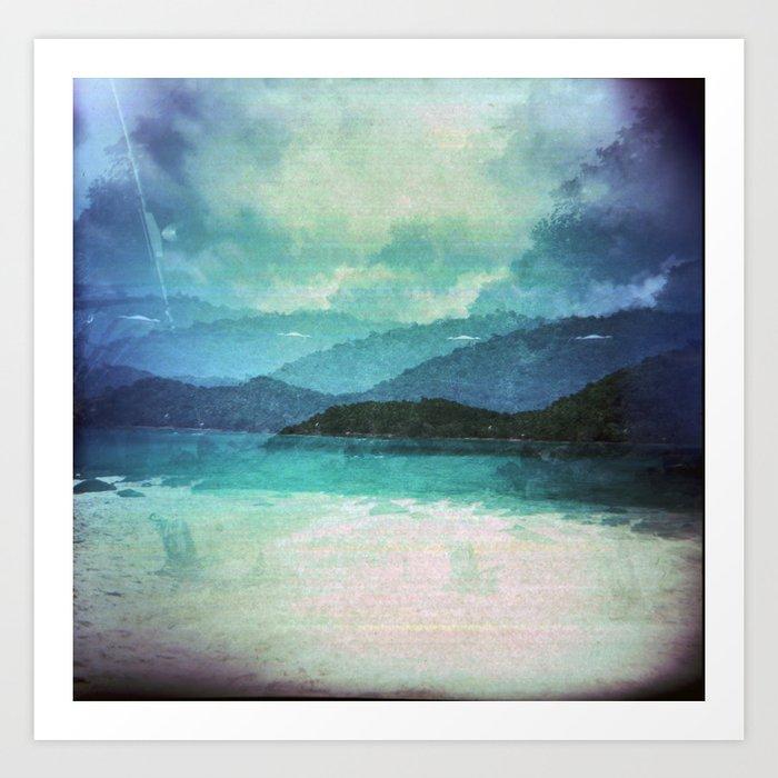 Tropical Island Multiple Exposure Art Print