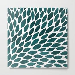 Watercolor brush strokes burst - teal Metal Print