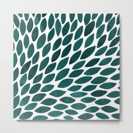 Watercolor brush strokes burst - teal Metal Print