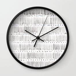 Lines and dots Wall Clock