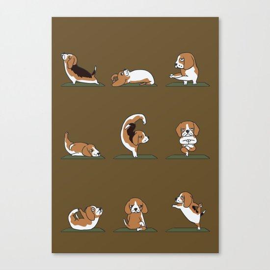 Beagle Yoga Canvas Print
