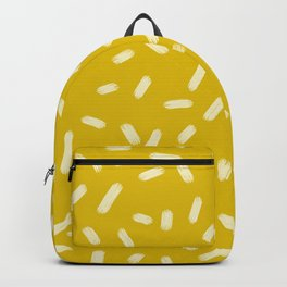 Mustard Yellow Brush Strokes Backpack