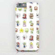 Mario Characters Watercolor Geek Gaming Videogame Slim Case iPhone 6