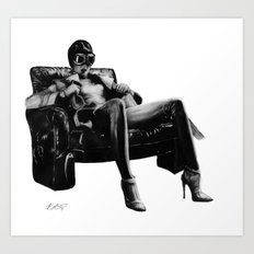 Hot Leather. Art Print
