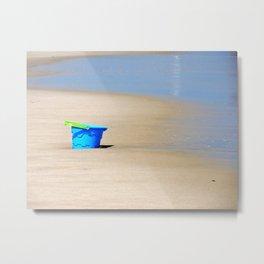 Little Blue Bucket Metal Print