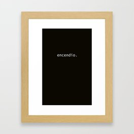 encendio Framed Art Print