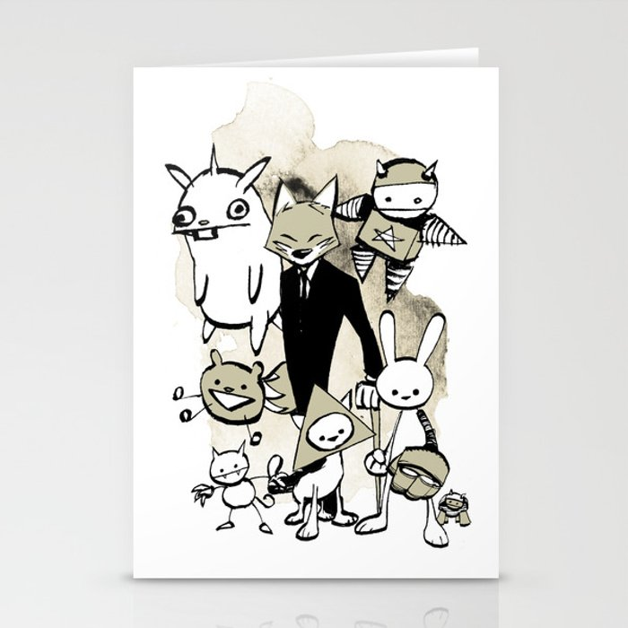 minima - dapper fox Stationery Cards