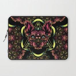 Sphynx floral color Laptop Sleeve