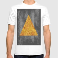 Gold Triangle MEDIUM White Mens Fitted Tee