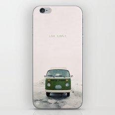 LIVE SIMPLY. Vintage Volkswagen Van.  iPhone & iPod Skin