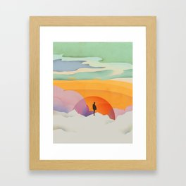 I Like to Watch the Sun Come Up - (White Version) Framed Art Print