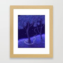 Starry Visit Framed Art Print