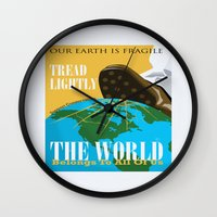 propaganda Wall Clocks featuring Conservation Propaganda by Teighlor Made Art & Design