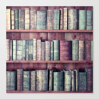 books Canvas Prints featuring books by Claudia Drossert