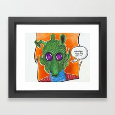 George made me do it Framed Art Print