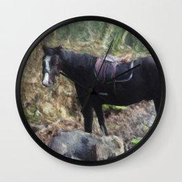Horse Near Matheson Lake No. 1 Wall Clock