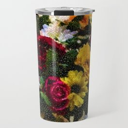 Flowers and Vase Portrait #2 - Jeanpaul Ferro Travel Mug