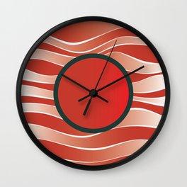 Shiny Japan Sun on Uranus Wall Clock
