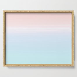 cotton candy sunset ombre Serving Tray