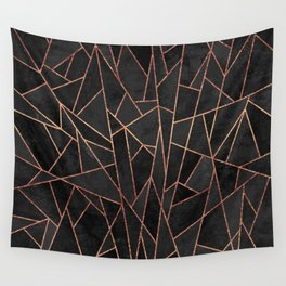 Shattered Black / 2 Wall Tapestry