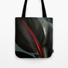 Ficus Elastica with green Tote Bag